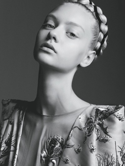Nastya Kusakina photographed by Steven Pan in Flair December 2012
