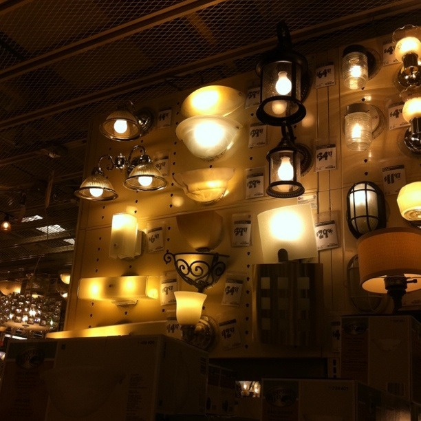 The wall of light.  A wall of generic light fixtures readily available.  This is the light we live with.