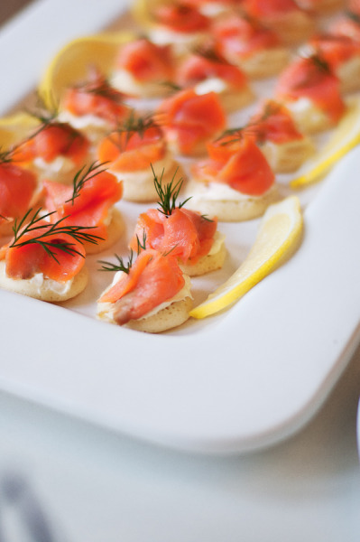 smoked trout blinis