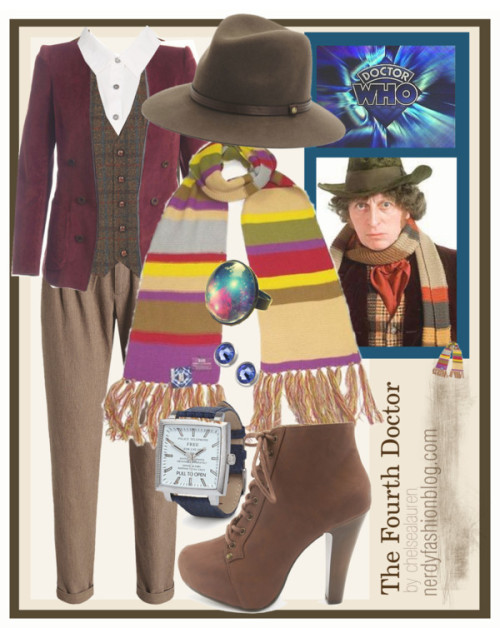 The Fourth Doctor | Doctor Who - Classic Who by chelsealauren10  Watch / Ring / Doctor Who Scarf Official BBC 4th Doctor Replica Scarf