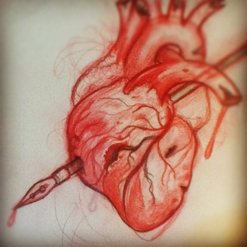 misterbeaudry:  #heart #sketch #drawing #pencil (at Colonial Park Cemetery)