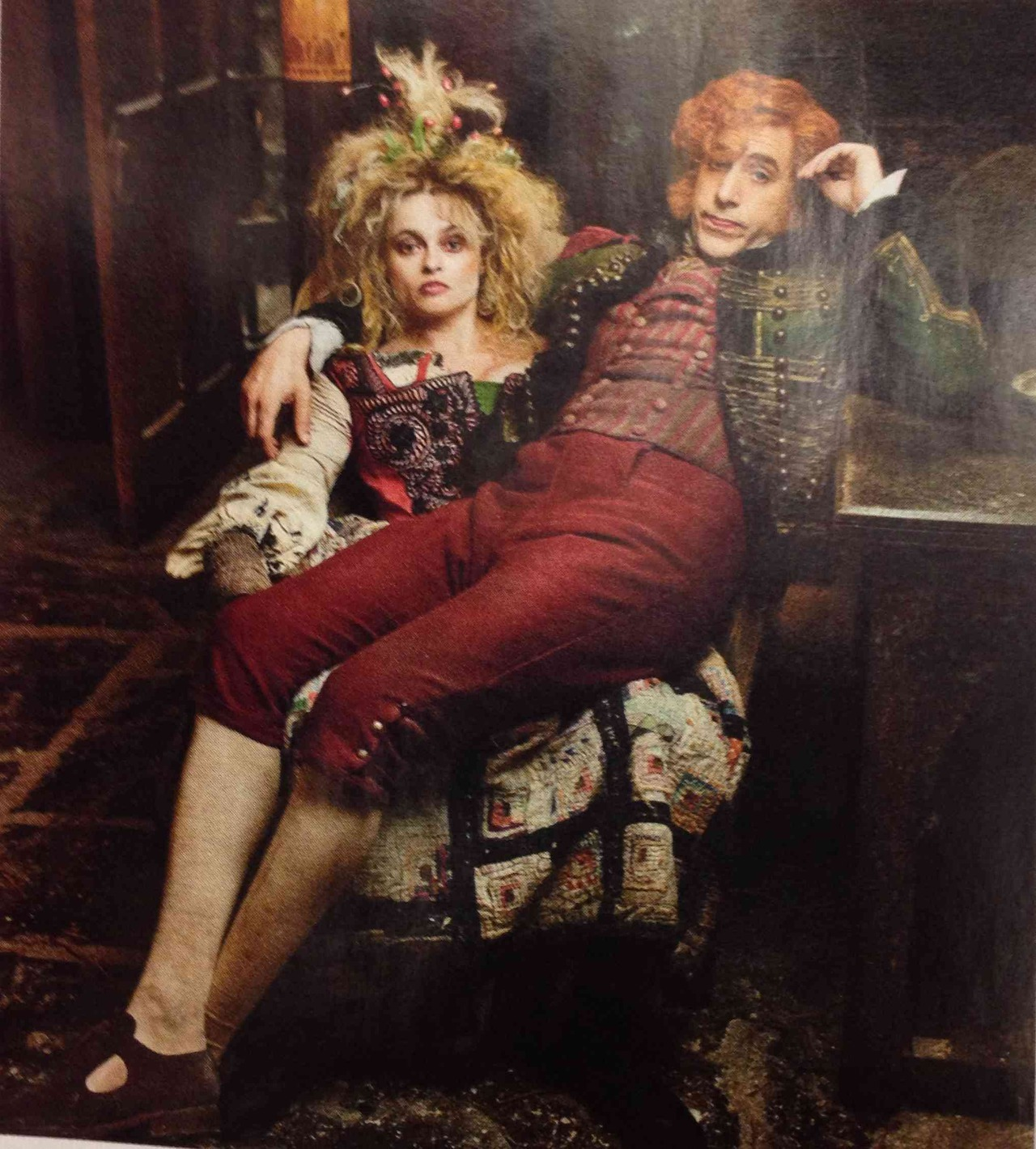 suicideblonde:  Helena Bonham Carter and Sacha Baron Cohen in Les Misérables