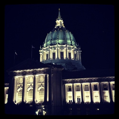 SF City Hall, view from the War Memorial Opera House