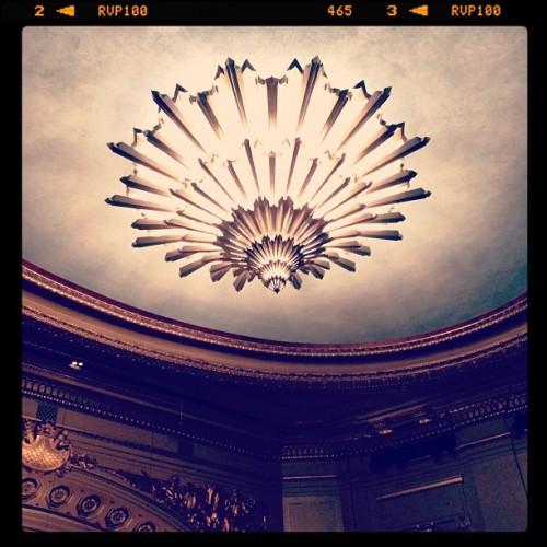 Loving the Art Deco Chandelier at the War Memorial Opera House