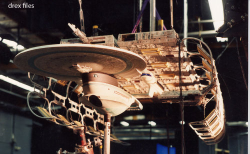 startrekships:  USS Enterprise B and dry dock studio models for Star Trek: Generations via Doug Drexler