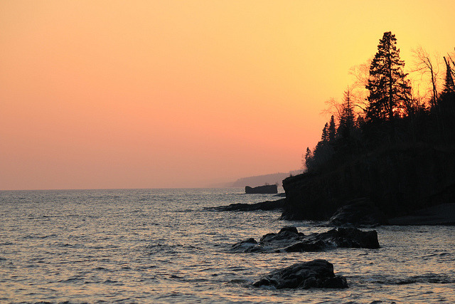 Lutsen Shoreline Silhouettes … by doc030395 on Flickr.