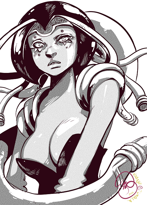 Influenza: More tinkering around in Manga Studio Ex. Not loving it. Doing lineart is easy… tones? Good lordy. It really shouldn't be that complicated. But I shall keep working at it! Anywho. For those that remember my little questionnaire that I had awhile back, I tallied up the votes… aaaand Influenza's the winner! The Ward was verrrrrry close. [It only lost by two votes!] But in the coming weeks I will be reworking the story line and posting character sketches to my Tumblr~ Who knows… maybe 2013 will be the year I have another original comic online! [oh my love, 3 Pillars, it's only been two years… /comfort]Thank you all who voted & sent me suggestions! All will be taken to heart! … now if you don't mind me… I need to do an illustration in Sai. Maybe I'll stream it..?