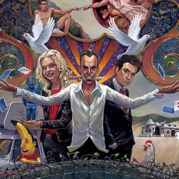 http://nineteeneightyeight.com/products/aaron-jasinski-it-is-all-illusion-print. On sale now. Signed and numbered. #arrested #development #print #art #painting