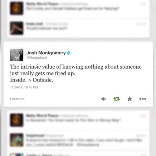From @joshuawmontgomery / @thejoshset. 👌 Truly a genuine guy.