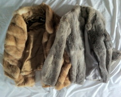 quirky-fairy:  gypcey:  frowl:  frowl:  Okay so my mum gave me these coats from when she was younger and I'm completely obsessed. They're so soft and fluffy and warm and ugggghh I just love them!   yay for my cute coats  loveee  omg your are so blessed god bless your mother