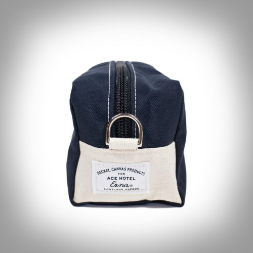 Our new dopp kit with Beckel Canvas — Portland handcrafters of custom tents — is so sturdy you could live in it, and it's a hell of a lot cheaper than rent. Even more so through Monday, when everything is ten cents off the dollar on our online shop through Monday at midnight.