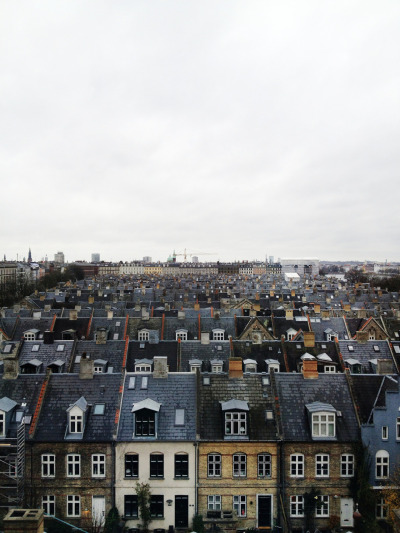 On a Sunday morning  | via copenhagenpics  Rows of houses.