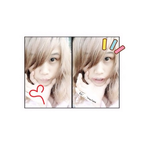 "Happy Sunday w/'imyuiyee"", #selca #me #imyuiyee #kawaii #happy #cute #girl #asian #myedit"