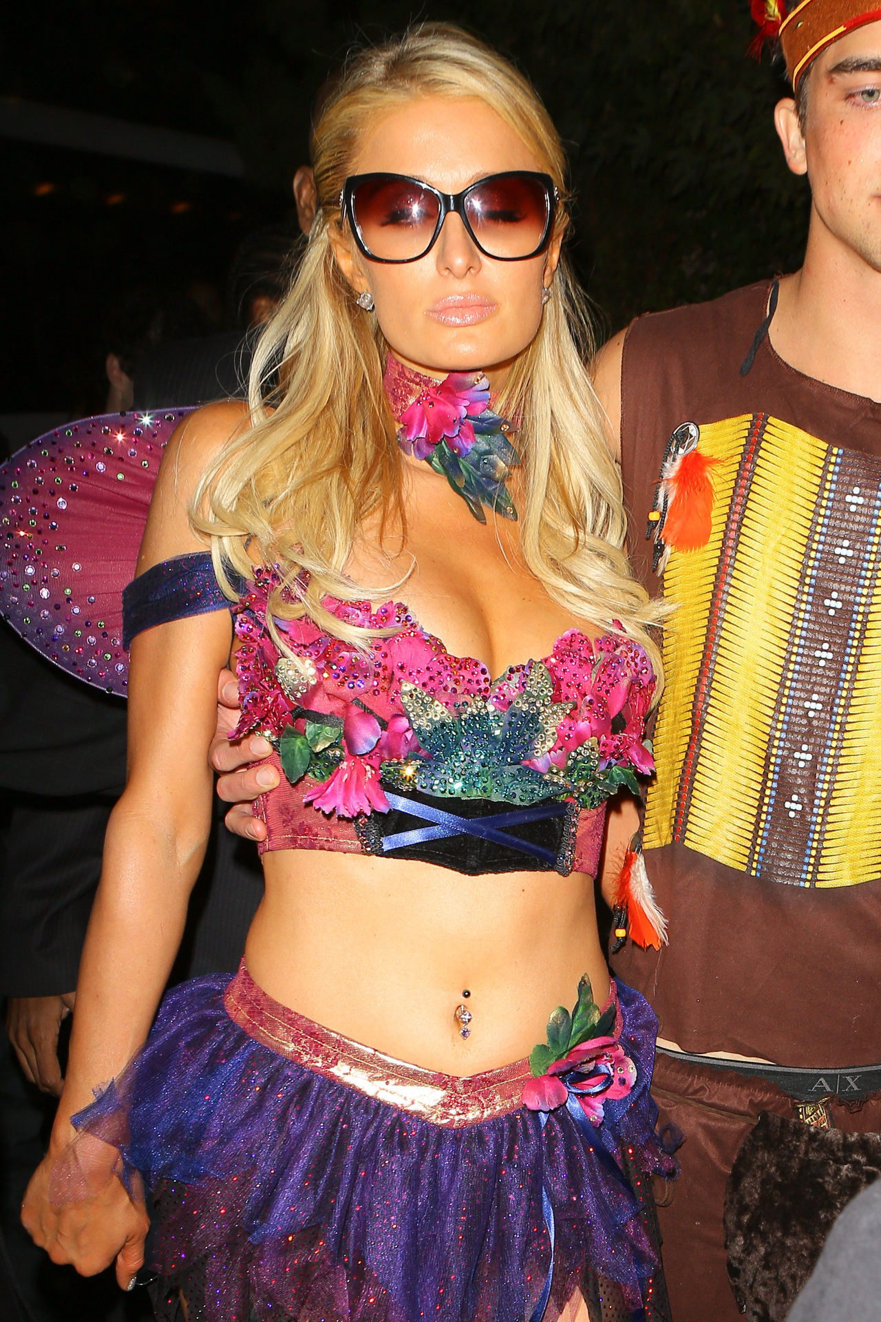 Paris Hilton at the Playboy Mansion Halloween Party in Los Angeles 10/27/12 More pics of Paris Hilton on SwaGirl.com