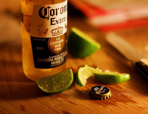 corona beer from a local