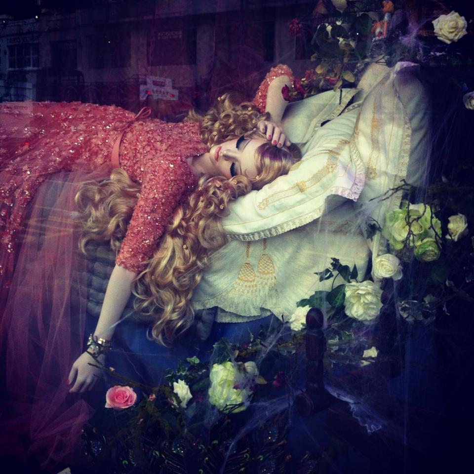 Harrods' Designer Disney Princess Display - Sleeping Beauty, dressed in Elie Saab