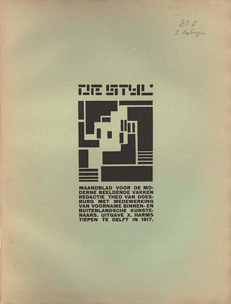 "De Stijl, Dutch for ""The Style"", also known as neoplasticism, was a Dutch artistic movement founded in 1917. In a narrower sense, the term De Stijl is used to refer to a body of work from 1917 to 1931 founded in the Netherlands. De Stijl is also the name of a journal that was published by the Dutch painter, designer, writer, and critic Theo van Doesburg (1883–1931), propagating the group's theories. Every issue of De Stijl in PDF format."