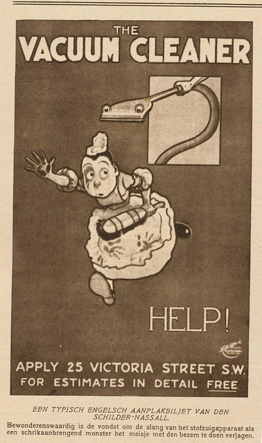 valsen:  advertising vacuum cleaner, 1914 by janwillemsen