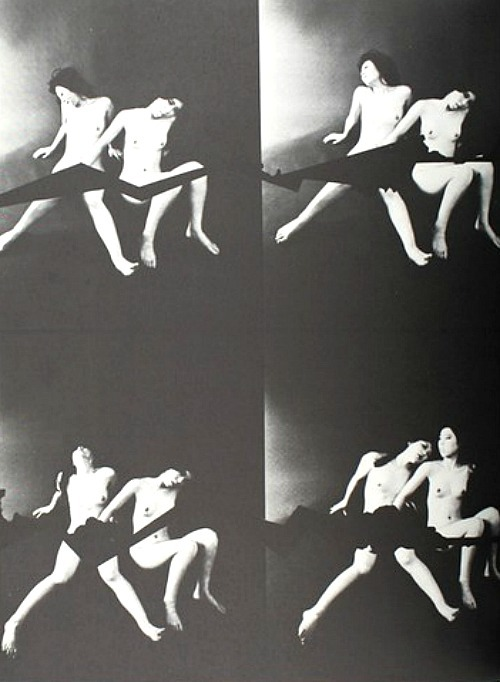 Photomontage from Oh, Nippon! / Oh, Japan! by Nobuyoshi Araki, 1971Also