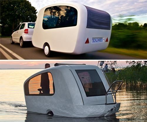 Amphibious Camping Trailer  [want]   via Neatorama