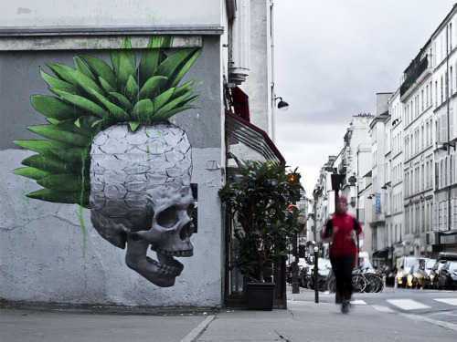 Piña Colada by // LUDO // on Flickr.Dope Ludo skull- maybe in Paris