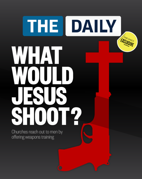 "Should churches be training people to shoot guns?  In an effort to reach out to men and increase membership, some U.S. churches have started offering concealed weapons training.   ""Church has done a good job with coffee klatsches or whatever, but we haven't really reached out to guys,"" said Jeff Copley, a preacher at the church. ""And guys in Morrow Country, they shoot and they hunt."" Hundreds of students have enrolled in the 10-hour course, which meets the state requirements for earning a concealed weapons permit. The training includes two hours on a church member's private shooting range. Read more."
