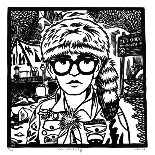 A relief block print of Sam Shakusky, from Wes Anderson's Moonrise Kingdom There are a limited number of prints available at my Storenvy shop, for those interested.