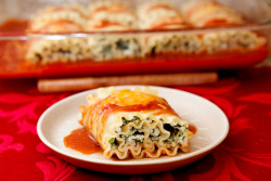 foodfuckery:  Spinach Lasagna Roll-Ups Recipe