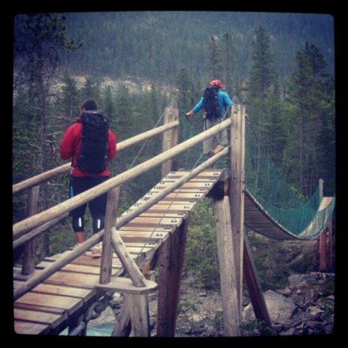 Mr. D and I hikin' #hiking #mountains #bridges