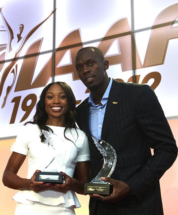 Usain Bolt won his fourth IAAF Athlete of the Year Award and Allison Felix won female IAAF Athlete of the Year for the first time. Both accepted their award in Barcelona, Spain