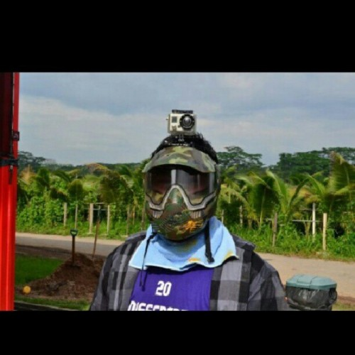 When I meet paintball and GoPro hero2. #gopro #hero2 #paintball #sop