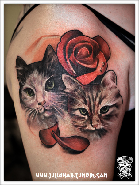 Cats | Done at the Almaar Tattoo Convention, Netherlands