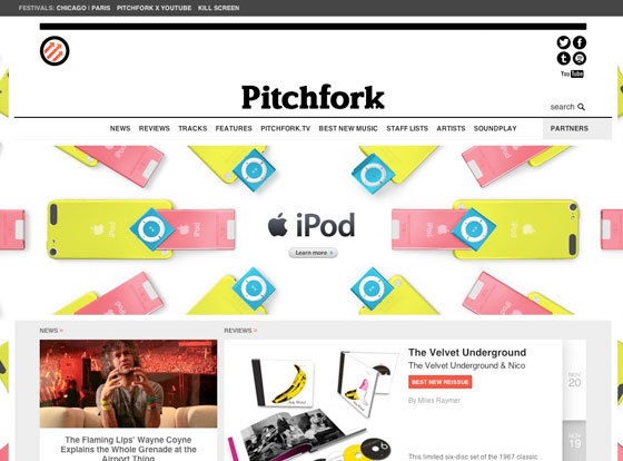 Exploding, bouncing iPod ads on websites