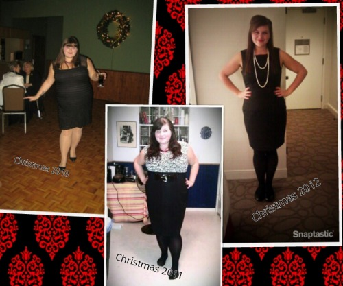 Ch-Ch-Ch-changes! Three consecutive Christmas party outfits, all my hard work paying off! Loving life, feeling healthy!!