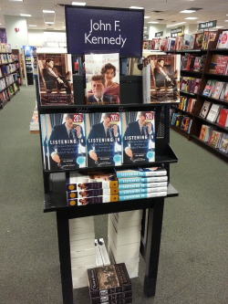 Barnes & Noble's lil tribute to JFK <3 Thankfully, I have these books in my collection!! :) [Can you believe it's been 49 years since his tragic, senseless death? And 49 years to the day since his funeral………:'(] On the other side of this little stand was one for Abraham Lincoln - JFK's role model and one of our greatest presidents ever :)