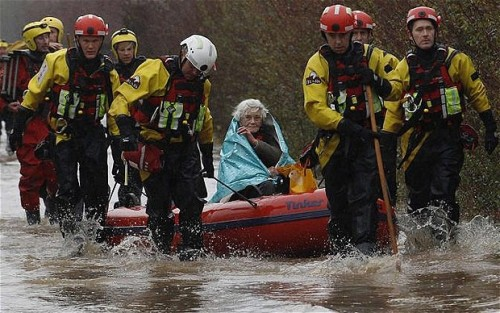 More than 800 homes flooded after storms hit the UK The Telegraph: 816 houses have been damaged by high floodwater in the UK, according to the Environment Agency. Devon and Cornwall are among the worst-affected areas, along with the historic town of Malmesbury. There are some 260 flood alerts in England and Wales. More than 200 other flood warnings are in place across England. Two people have died so far in the storms. Photo: Diana Mallows, 90, had to be rescued from her village home near Taunton. (Reuters)