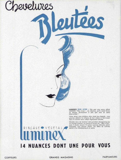Luminex hair color, 1930s