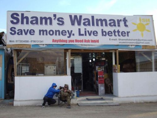 Apparently the Black Friday lines were really bad at Walmart in Afghanistan.