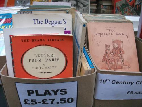 Secondhand plays from David Drummond Books, Cecil Court, London
