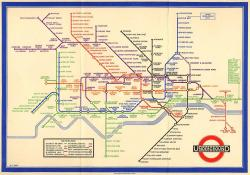 landofmaps:  Original London Underground Map by Harry Beck, 1933