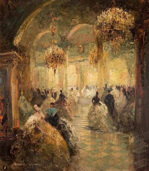At the Opera Ball - Ludwig Gschossmann