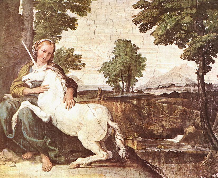 Virgin and Unicorn (1604) by Annibale Carracci
