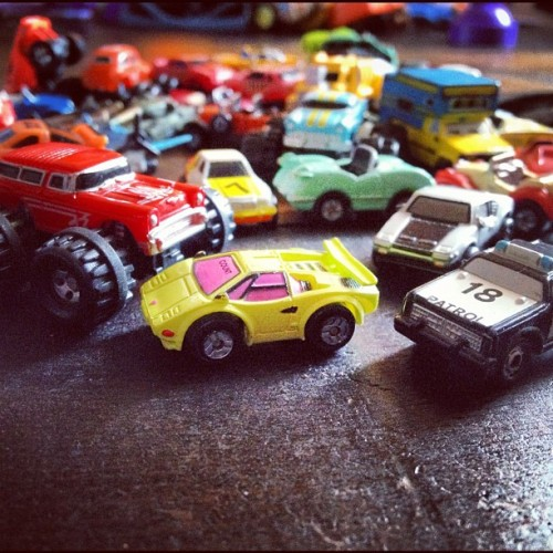 Micro machines! Circa 1987… Newest additions to Cam's car collection!🚓🚒🚕🚗🚤🚑