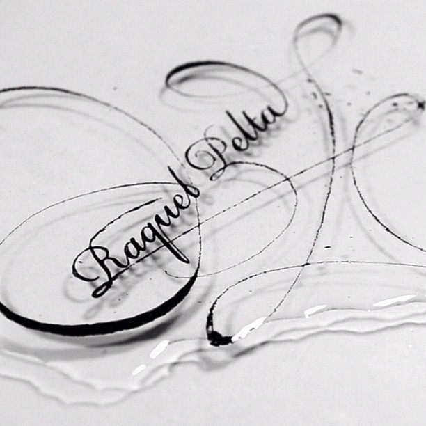 'Raquel Pelta' lettering from my Opening Titles project with @jebeor #lettering #typography  (at Noem9 Studio)