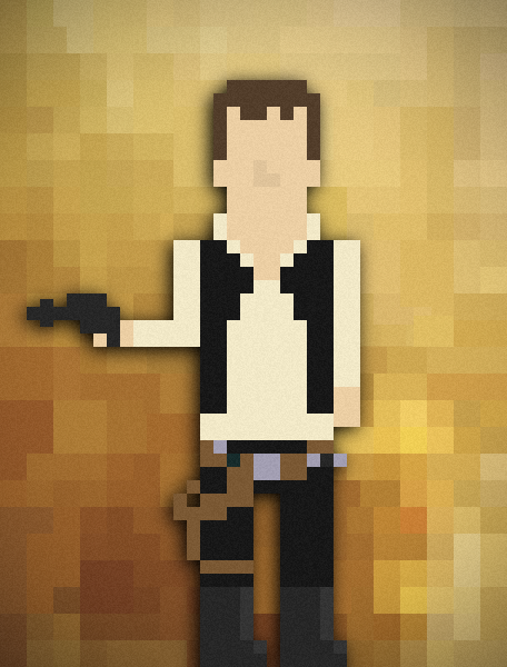 it8bit:  8-bit Han Solo Created by DavidtheDestroyer deviantART || Twitter || Tumblr (via:tiefighters)