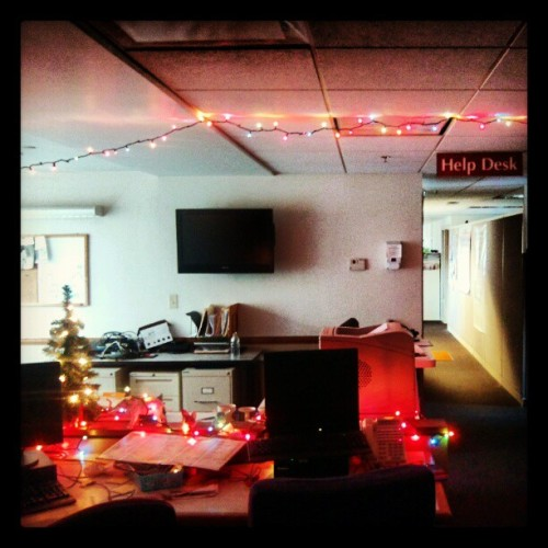 I did a little decorating at the #helpdesk today. Merry Christmas from the nerds! (at Helpdesk)