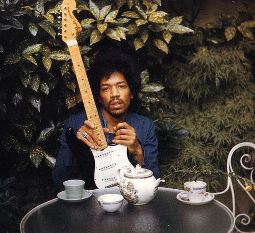 This photo of Jimi Hendrix was taken the day before his death on September 17, 1970.