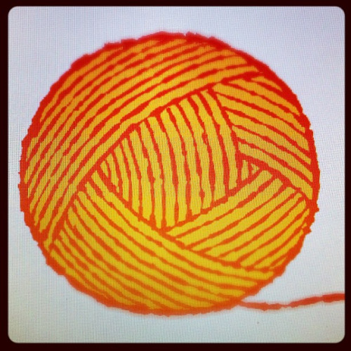 Drawing a digital ball o' yarn.