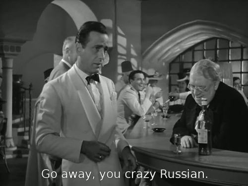 wasthatnotprocedure:  aughost:  Casablanca (Michael Curtiz, 1942)  #Sometimes Clint says this to Tasha #and gets a smack around the head for his troubles