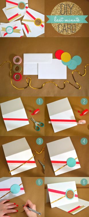 DIY Cards(via The Sweet Beast)